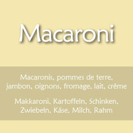 Macaronis montagnards