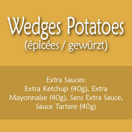 Wedges Potatoes (Epicées)